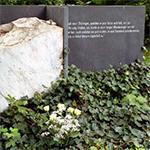 Das Grab von Einar Schleef in Sangerhausen