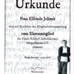 Ehrenmitgliedschaft Elfriede Jelinek